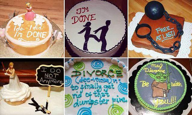The divorce cakes couples are ordering to celebrate the end of their marriages featured image