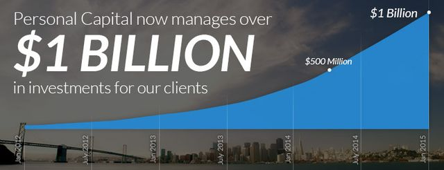 Personal Capital Now Manages Over One Billion Dollars featured image