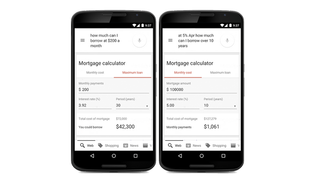 Google now has a built-in mortgagecalculator featured image
