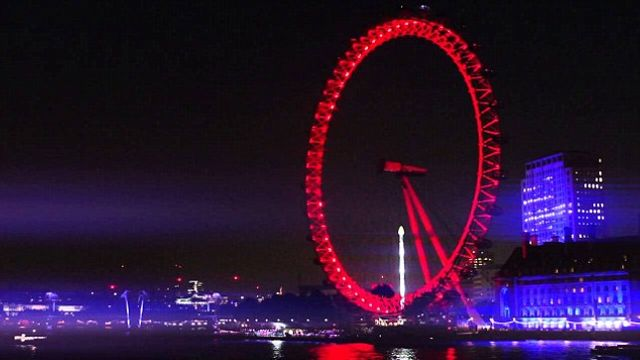 London Eye turns red for Coke. featured image