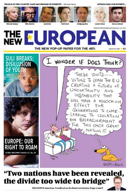 Pop-up newspapers - say hello to The New European featured image