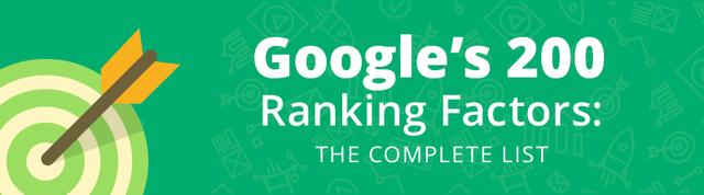 Google's 200 ranking factors featured image