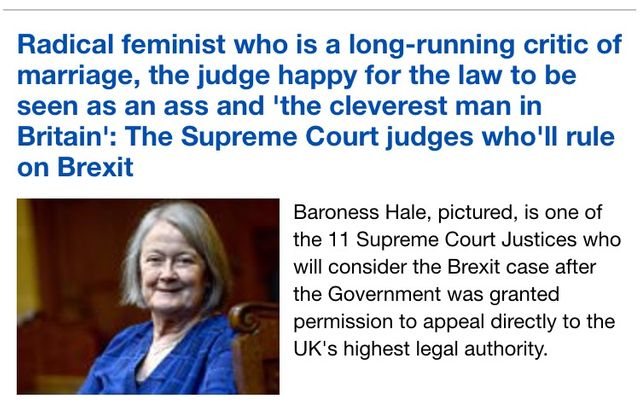 """The Daily Mail's latest insult: a Supreme Court Justice who is """"a feminist"""" and was instrumental in the crafting of the Children Act 1989 featured image"""