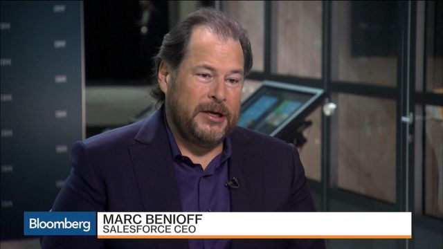 Marc Benioff discussing AI and M&A for 2017 featured image