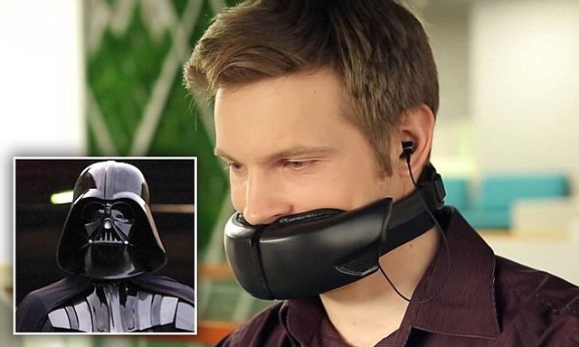 How to keep your chatty colleagues quiet: Bizarre 'Darth Vader' mask can mute loud phone conversatio featured image