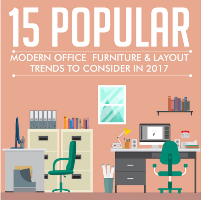 15 Modern Office Furniture and Layout Trends (Infographic) featured image