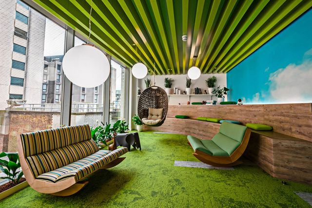 Champagne buttons, roof terraces and private cinemas: UK offices to make you jealous  Read more at: featured image