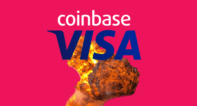 VISA officially blames cryptocurrency overcharge scandal on Coinbase featured image