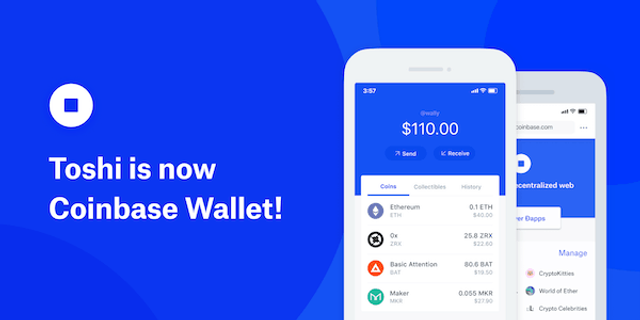 Toshi No More: Ethereum Network Browser Renames to Coinbase Wallet featured image