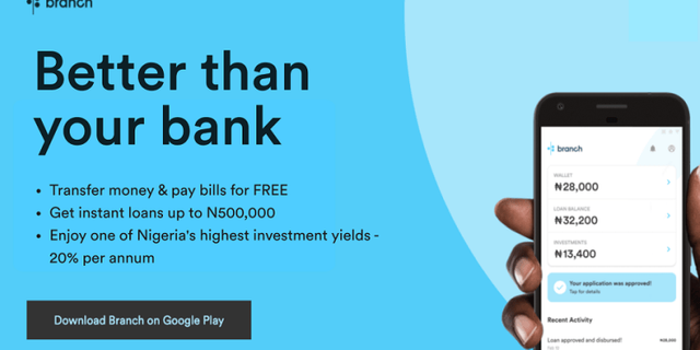 Branch announces free unlimited money transfers and Nigeria's leading investment returns at 20% featured image