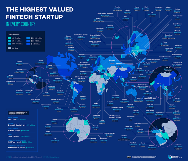 Where are the biggest FinTech startup hotspots around the world? featured image