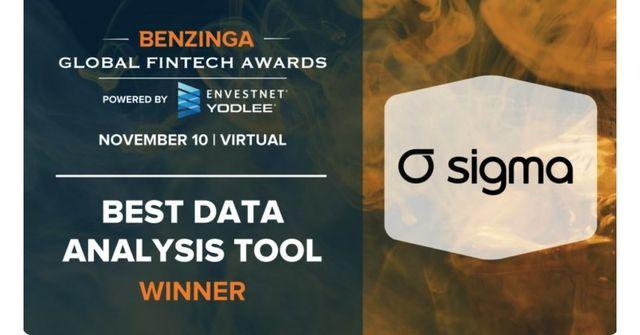 Sigma Ratings wins 'Best Data Analysis Tool' award at 2020 Benzinga Global Fintech Awards featured image