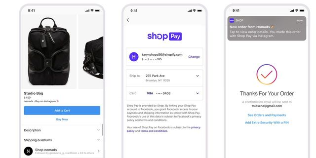 Shopify expands its checkout and payment processing system, Shop Pay, to Facebook and Instagram featured image