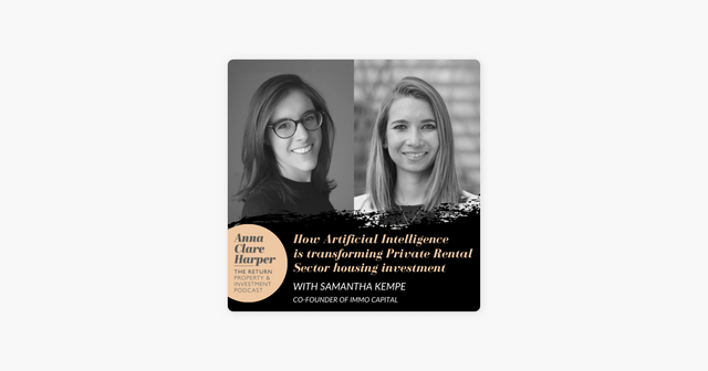 (Podcast) How Artificial Intelligence is transforming Private Rental Sector housing investment with IMMO Co-Founder Samantha Kempe featured image
