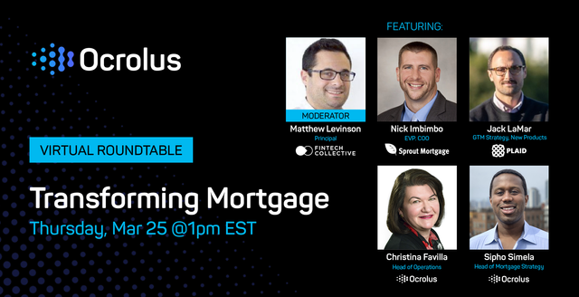 Transforming mortgage: Ocrolus virtual roundtable featured image