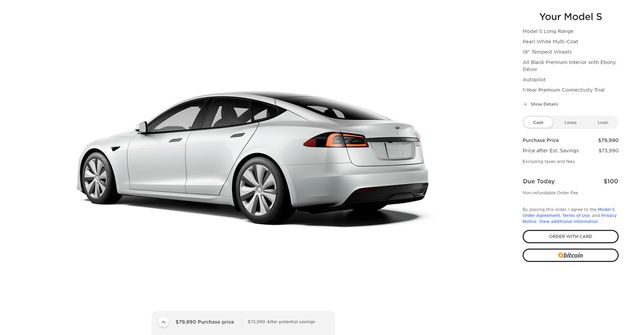 You can now buy a Tesla with bitcoin in the US featured image