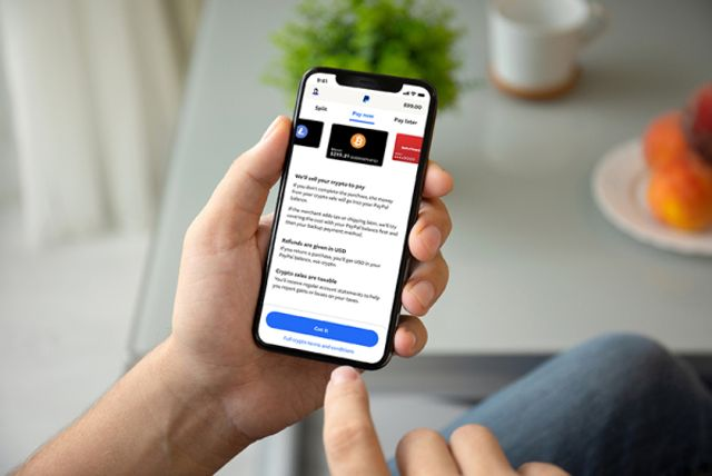 PayPal's new feature allows US consumers to check out using cryptocurrency featured image