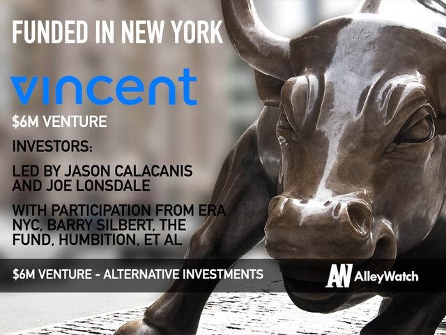 Vincent raises another $6m for its search engine for alternative investments featured image