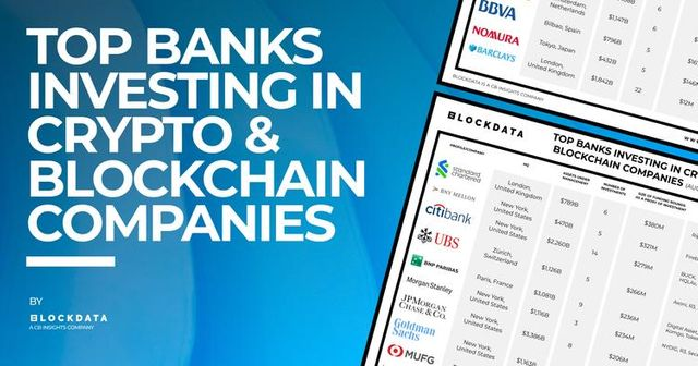 Top banks investing in crypto & blockchain companies featured image