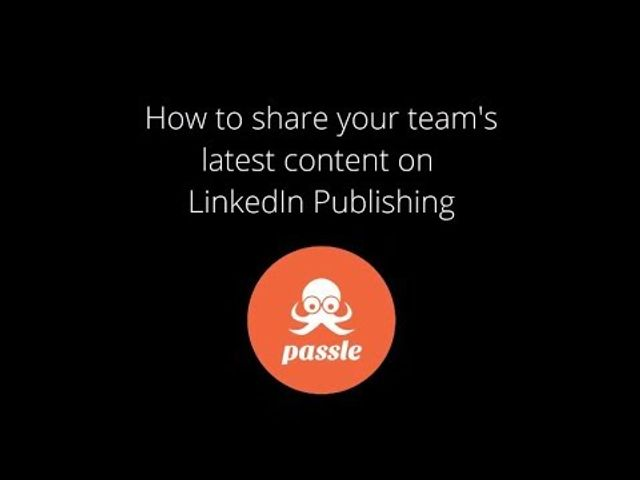Your team's content on LinkedIn Publishing featured image