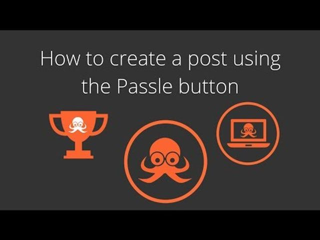 How to create a post using the Passle button featured image