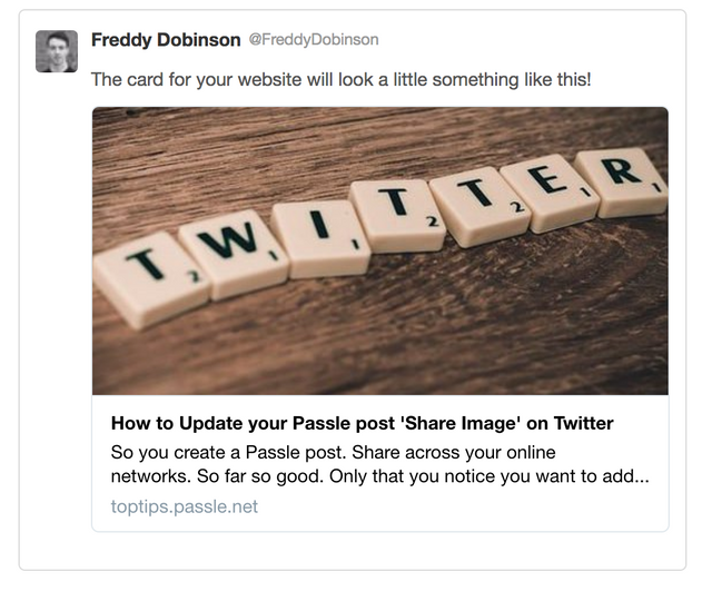 How to clear Twitter Cache and update your Passle post 'Share Image' featured image