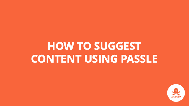 How to suggest content using Passle – Passle Knowledge Base featured image
