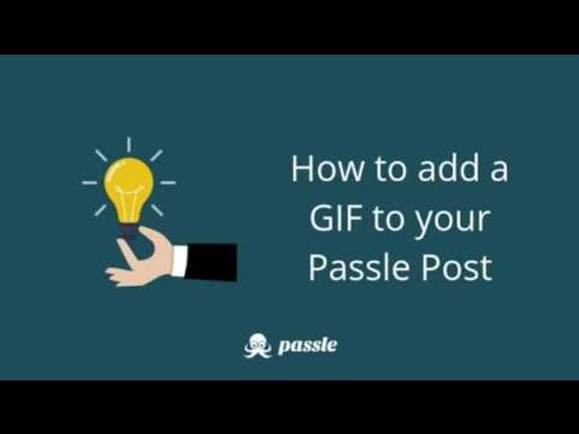 How to add a GIF to your Passle post featured image