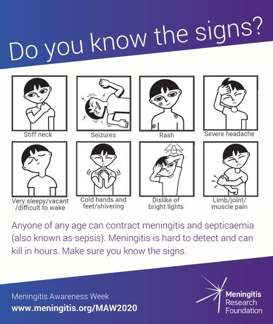 Meningitis Awareness Week 2020 - Meningitis has not gone away featured image
