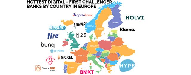 14 Hottest Digital-First Challenger Banks by Country in Europe featured image
