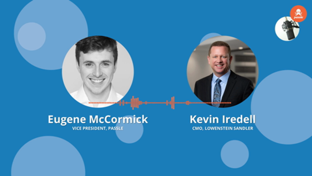 CMO Series EP 2 - Kevin Iredell of Lowenstein Sandler on the digital transformation of law firms, Thomas Evans featured image