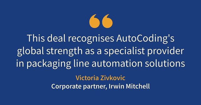 Irwin Mitchell advises on £12.5m sale of AutoCoding Systems to JBT Corporation featured image