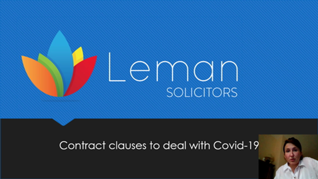 Contract clauses to deal with Covid-19 featured image