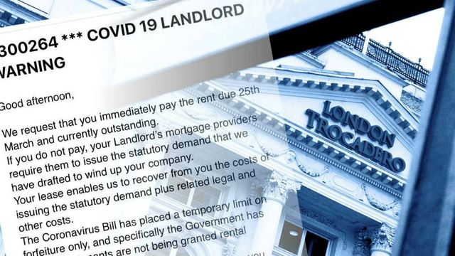 UK Landlords respond with legal threats to non-payment of rent featured image