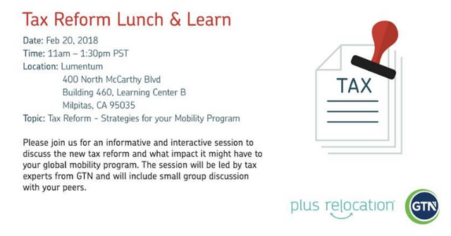 Tax Reform Lunch & Learn session featured image