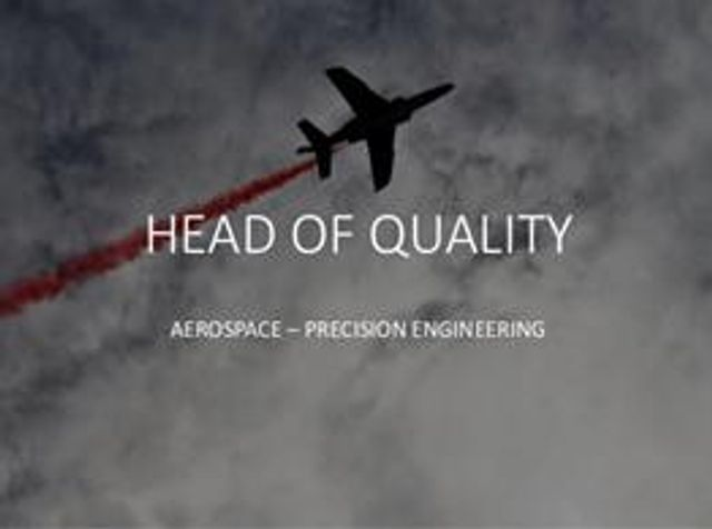 NEW Case Study - Aerospace - Head of Quality featured image