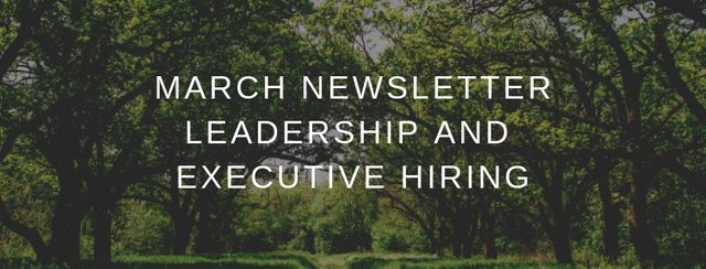 March newsletter - Interesting articles on leadership and building high performing businesses featured image
