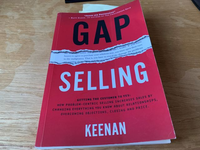 GAP Selling by Keenan - My 3 key takeaways for solution sales specialists featured image