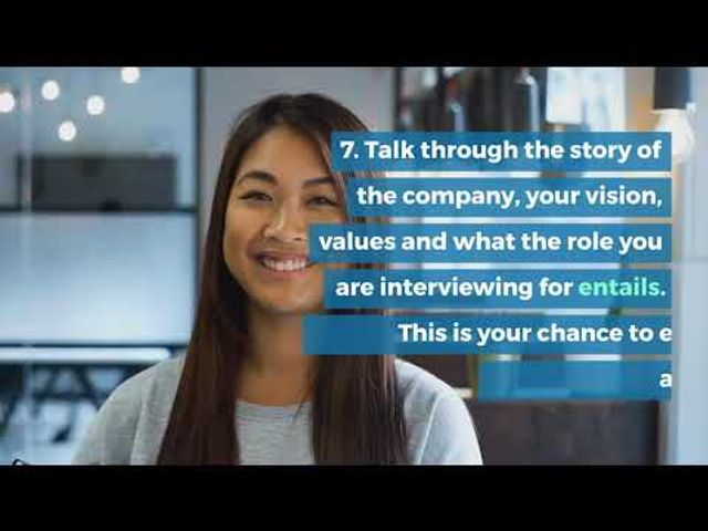 10 tips to help employers virtual / video interview effectively - short video featured image