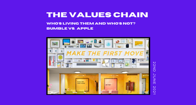 The values chain: Bumble vs. Apple featured image