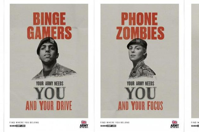 The Army's new campaign for phone zombies and binge gamers  - posters? featured image