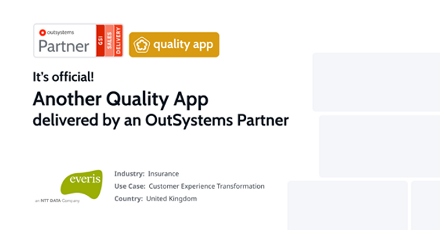 everis first OutSystems partner awarded Quality Apps Badge featured image