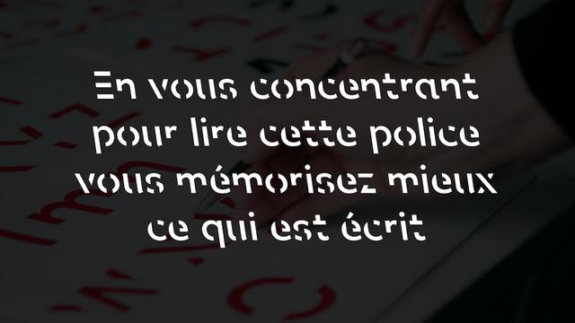 """""""Sans Forgetica"""" : une typo illisible qui améliore la mémorisation featured image"""