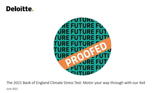 The 2021 Bank of England Climate Stress Test: Motor your way through with our 4x4 featured image