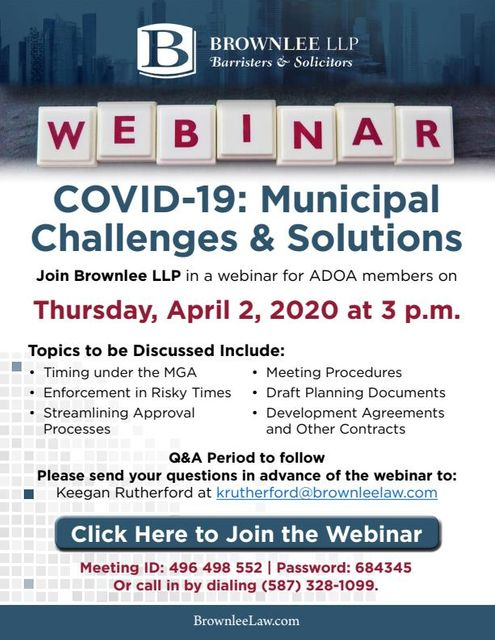 Webinar set to Discuss COVID-19 Impacts on Planning and Development featured image