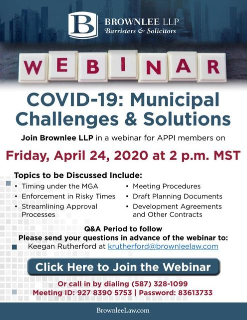 Register Here: April 24, 2020 Webinar for APPI will Discuss Impacts of COVID-19 on Planning featured image