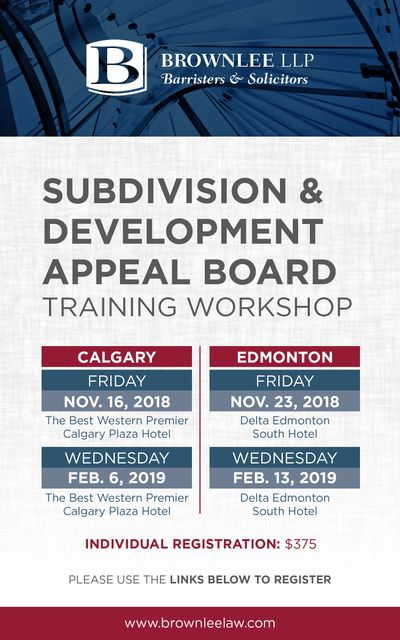 Brownlee LLP presents: Subdivision and Development Appeal Board Training Workshop featured image