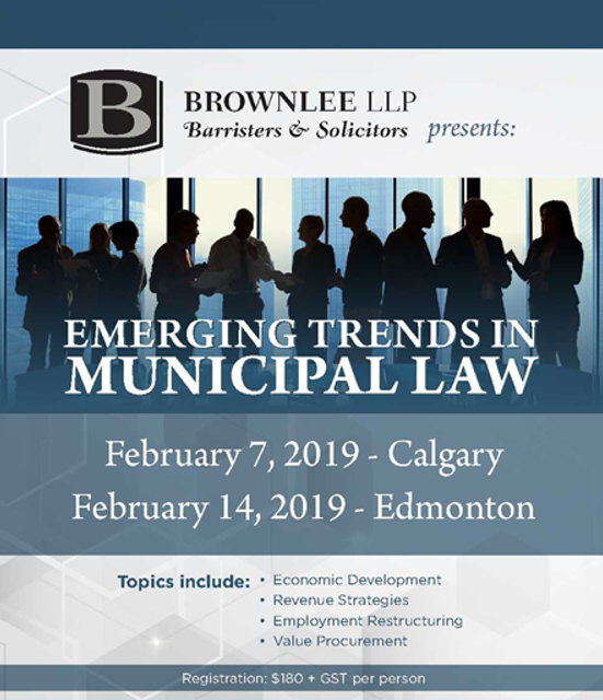 Last Chance to Register! Emerging Trends in Municipal Law Offered in Calgary & Edmonton featured image