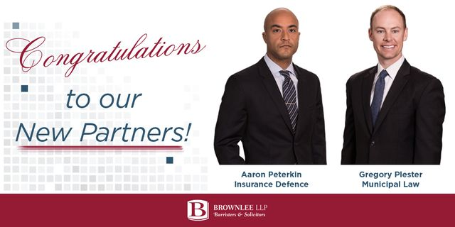 Brownlee LLP Welcomes Two Lawyers into the Partnership featured image