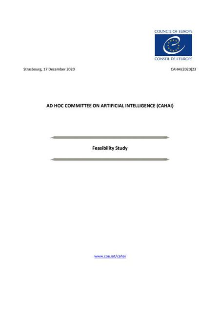 Update on CoE's AI Legal instrument 'Feasibility Study' featured image